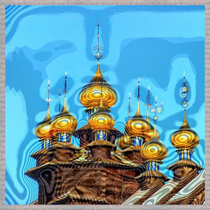 · motiv-untersetzer · set 11.1 · motiv: gifhorn_zwiebeleltürme_glockenpalast II · 2005-12-30-088 · yak © 2005 RK