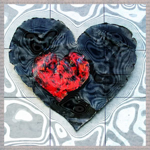 · motiv-untersetzer · set 06.1 ·  motiv: black_heart  ·  2003-08-346 · yak © 2003 RK