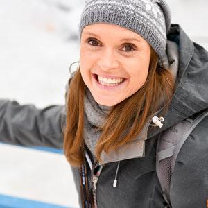 Evi Sachenbacher Stehle als Zuschauer im Langlaufstadion Oberstdorf