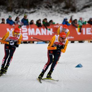Nordisch Kombinierer beim Langlauf_Oberstdorf 2020/ vorn Johannes Rydzek
