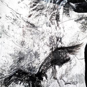 Ravenheart, Lack auf Pappmaché 120 x 150 cm