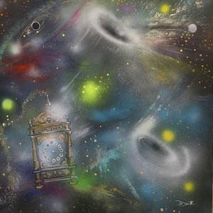 Time new Lack, Acryl auf Leinwand 100 x 100 cm