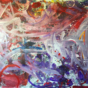 jumping acryl lack auf leinen 200 x 150 cm