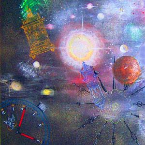 Time (Ausschnitt) Lack, Acryl auf Kunststoffplatte ca. 160 x 90 cm