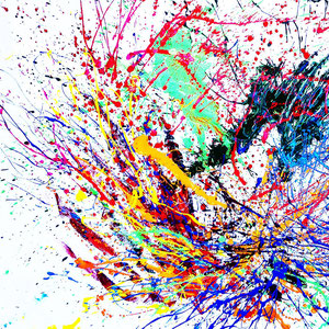 Explosion, Lack auf Leinen 210 x 140 cm