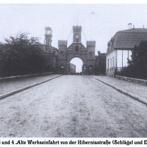 Werkseinfahrt Schlägel und Eisen ca. 1920