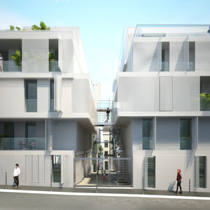 LOGEMENTS CONTEMPORAINES AVEC RESILIE METALLIQUE