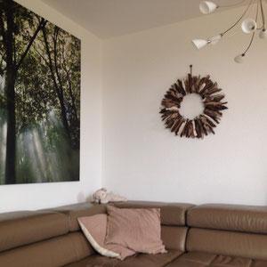 Treibholzsonne im Wohnzimmer