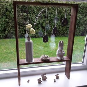Fensterdeko mit unserer Holz Box