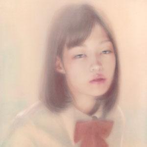 「君の光」2017/05/30(F6 パステル/ジョッソ下地木製パネル)