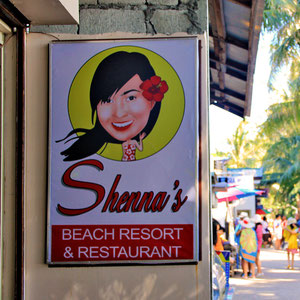 Shenna's Restaurant at Station 2, Boracay, Philippines. 2013 © Sabrina Iovino | JustOneWayTicket.com