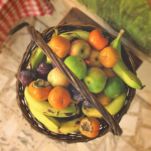 Fresh and mouth-watering fruits - Hotel Review: Fauzi Azar Inn, Nazareth, Israel © Sabrina Iovino | JustOneWayTicket.com