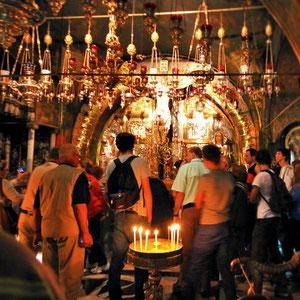 Inside the Church of the Holy Sepulchre in Jerusalem, Israel © Sabrina Iovino   JustOneWayTicket.com