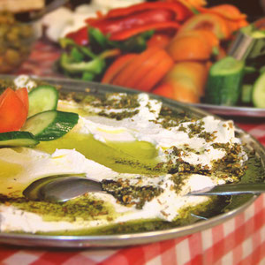 Hummus, a traditional delight - Hotel Review: Fauzi Azar Inn, Nazareth, Israel © Sabrina Iovino | JustOneWayTicket.com