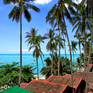 Alona Beach, view from the terrace of Hayahay Resort. Panglao, Bohol, Philippines 2013 © Sabrina Iovino | JustOneWayTicket.com