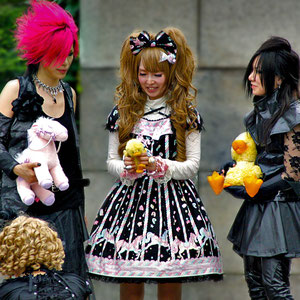 Seriously, what the heck are these girls doing with their teddy bears on the street?? Harajuku Street Fashion, Tokyo. Japan 2013 © Sabrina Iovino | JustOneWayTicket.com