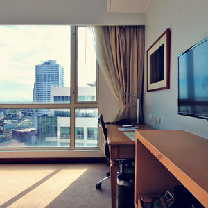 The room is a great work space either... The Linden Suites, Manila, Philippines © Sabrina Iovino | JustOneWayTicket.com