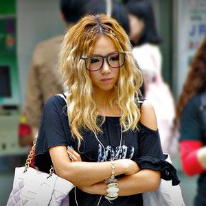 Pretty Doll in front of the subway station, Harajuku Street Fashion, Tokyo. Japan 2013 © Sabrina Iovino   JustOneWayTicket.com