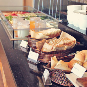 Breakfast Buffet with loads of Western and Filipino dishes at The Linden Suites, Manila, Philippines © Sabrina Iovino   JustOneWayTicket.com