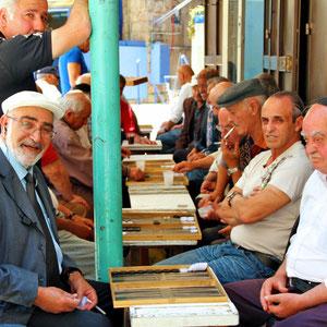 Locals playing board games. Jerusalem, Israel © Sabrina Iovino   JustOneWayTicket.com