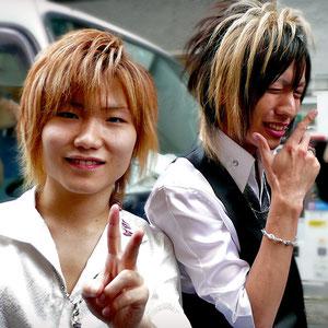 I met those ones in Shinjuku - probably hosts - Tokyo, Japan 2013 © Sabrina Iovino | JustOneWayTicket.com