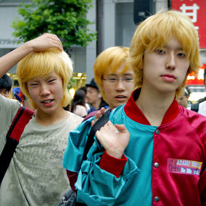 Blonde guys, actually very often seen in Tokyo. I bumped into these ones in Shibuya, Japan 2013 © Sabrina Iovino | JustOneWayTicket.com