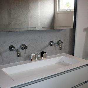 beton cire wastafel badkamer