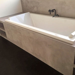beton cire badkamer bad