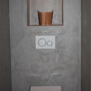 beton cire toilet wand