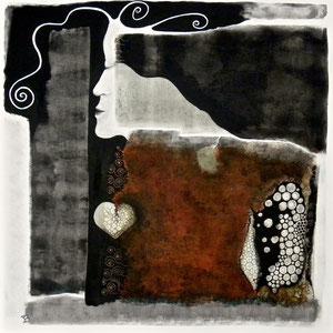 JAR et le Silence de l'Abîme   80 x 80 cm 3D