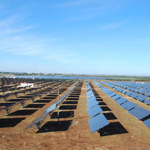 PV-park EST Italia - view from east to west - modules: Sanyo HIT 235 & Power One Central inverters