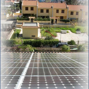 alkaSOL / EST project: Messina, Sicily  -  roof mounted alkaSOL modules - 2009