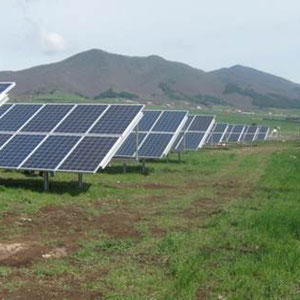 alkaSOL / EST project: photovoltaic array with LG modules, installed in Atella, Basilicata
