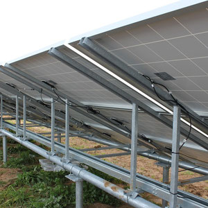 alkaSOL / EST project:Copertino, Italy-  alkaSOL structure with installed JA-Solar modules