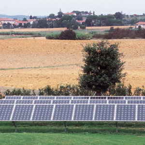 alkaSOL / EST project: Meolo, Venezia  - Krinner PV-structuer & PV-system installed 2004 by EST Germany