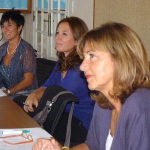 Irene Nicotra (à gauche) de la province de Livourne, qui pilote le projet, et Nori Emili ( à droite)