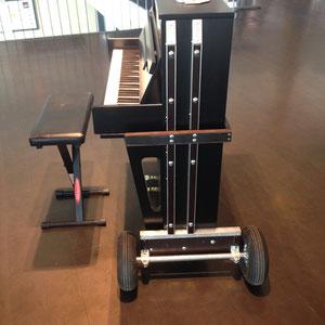 Das mobile Klavier auf Rädern