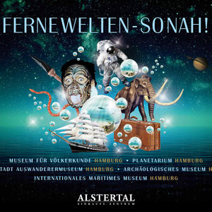 Nach John Neumeiers Ballett und der Stage School Hamburg hat ESKOM nun, beauftragt durch die ECE, fünf Hamburger Museen in das Alstertal-Einkaufszentrum geholt. Die Ausstellung FERNE WELTEN – SO NAH wurde von ESKOM konzipiert, gestaltet und umgesetzt