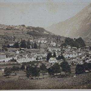 Schwanden gestempelt um 1909 (Postkarte, zvg von Rueidi Kuchen)