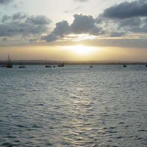 タンザニア|ビクトリア湖に沈む夕陽