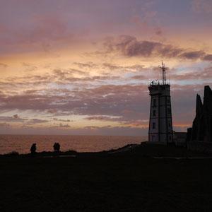 Bretagne coucher de soleil Pointe Saint-Mathieu