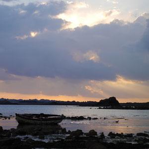 Bretagne paysage coucher de soleil
