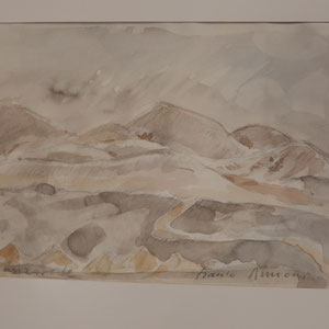 "Franco Annoni Aquarell 6 Landschaft 2"""