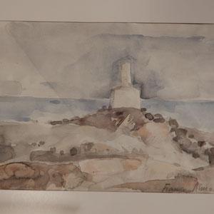 "Franco Annoni Aquarell 5 ""Landschaft 1"""