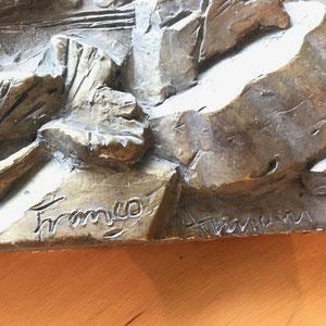 Gipsrelief signiert von 1988  2   Dim.: 36x25cm