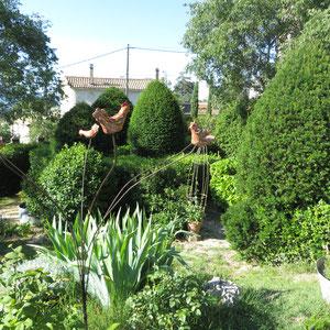 vue du jardin en sec