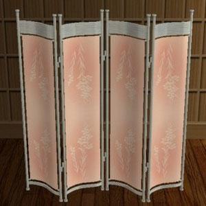Paravent céduvent motif rose à fleurs