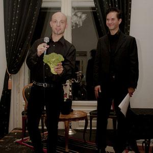 Sven Fauth (links mit Brokkoli) (Foto © Daniel Müllenbach)