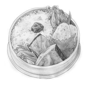週刊文春12/8日号「お弁当で行こう!」よりのまさみさん『ぶりのハーブ焼き弁当』