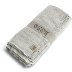 Lovely Linen Linen Table Cloth Light Grey